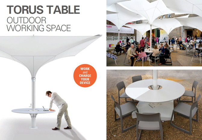 TORUS Tisch Outdoor Working Space by MDT-tex